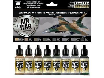 Plastic Kits VALLEJO Model Air USAF WWII To Present Aggressor Squadron Part I - 8 Colour Acrylic Paint Set
