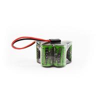 Battery NiMh TORNADO RC 1600 Mah 6.0V Hump RX Pack NIMH