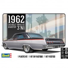 Plastic Kits REVELL (m) '62 Chevy Impala Hard Top 3'N 1 -  1:25 Scale