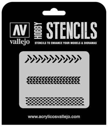 Paint Vallejo 1/35 Tyre Markings Stencil