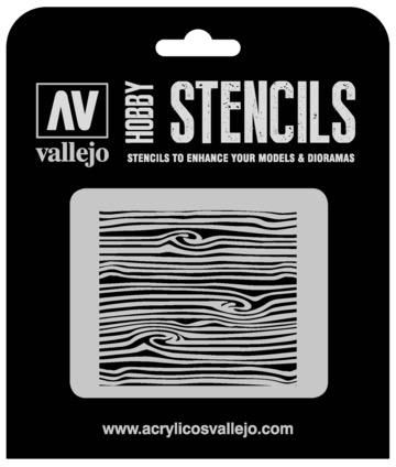 Paint Vallejo 1/35 Wood Texture Num. 2 Stencil