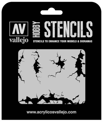 Paint Vallejo 1/35 Cracked Wall Stencil