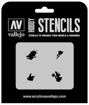 Paint Vallejo 1/35 Petrol Spills Stencil