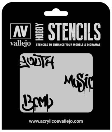 Paint Vallejo 1/35 Street Art Num. 1 Stencil