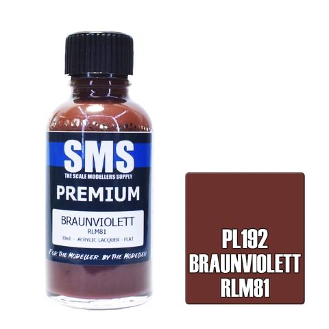 Paint SMS Premium Acrylic Lacquer PREMIUM BRAUNVIOLETT RLM81 30ml