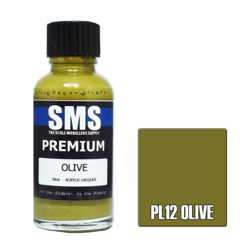 Paint SMS Premium Acrylic Lacquer PREMIUM OLIVE 30ml