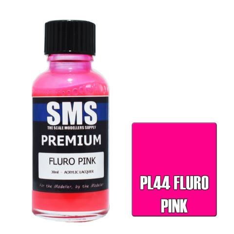 Paint SMS Premium Acrylic Lacquer PREMIUM FLURO PINK 30ml
