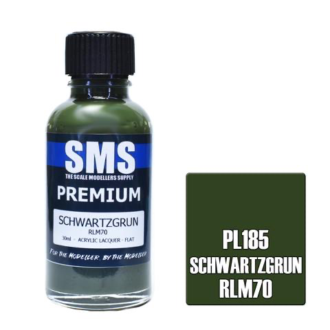 Paint SMS Premium Acrylic Lacquer SCHWARTZGRUN RLM70 30ml