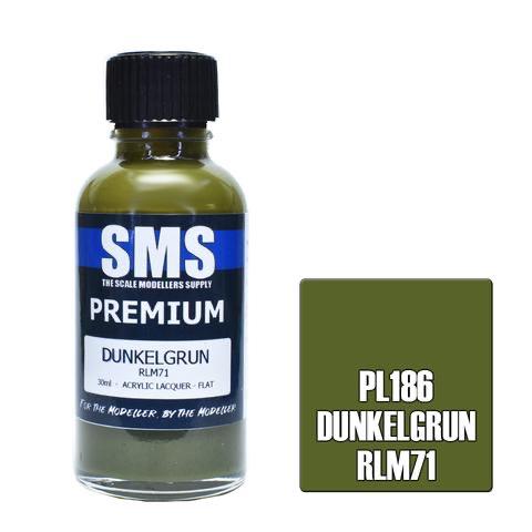 Paint SMS Premium Acrylic Lacquer DUNKELGRUN RLM71 30ml
