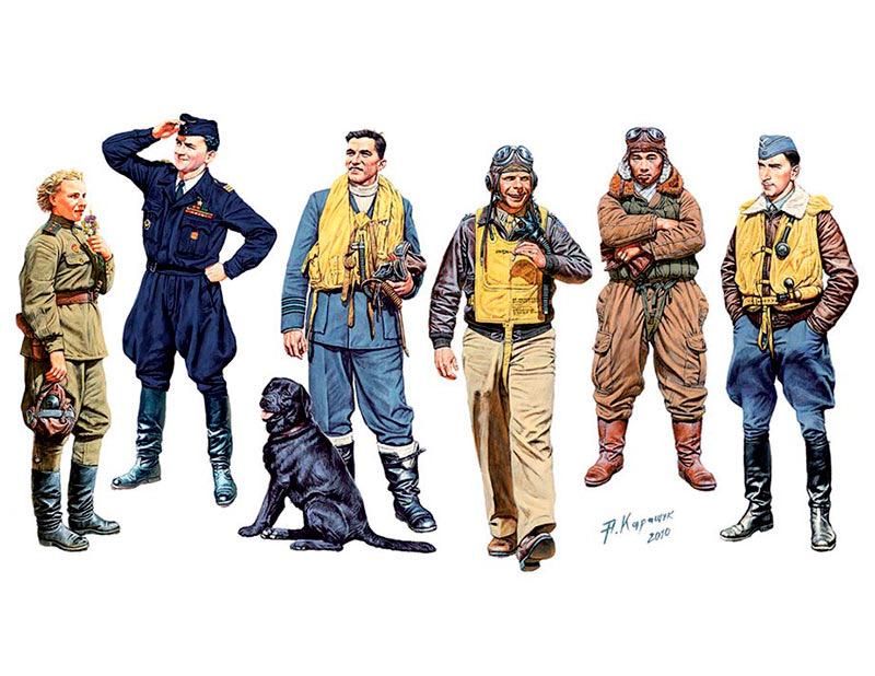 Plastic Kits MB Aircrew Famous Pilots of WW2