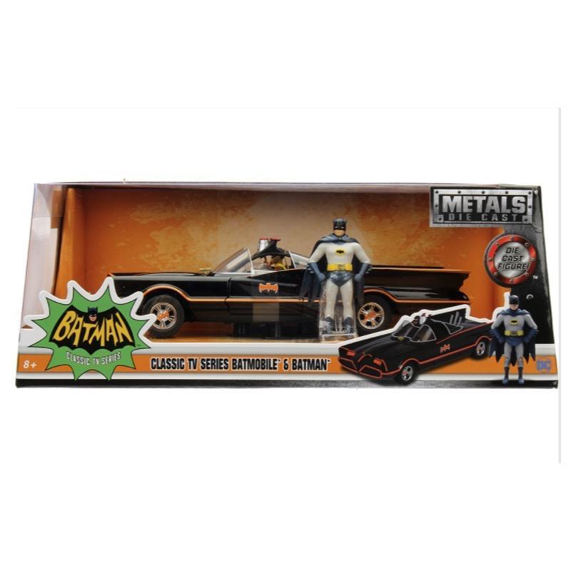 Diecast DDA 1/24 1966 Classic TV Series Batmobile with Batman Figure Movie