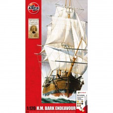 Plastic Kits Airfix (k) Endeavour Bark And Captain Cook 250th Anniversary - 1:120 Scale ( includes paint,brush & glue)