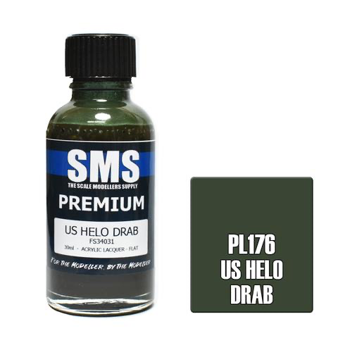 Paint SMS Premium Acrylic Lacquer US HELO DRAB FS34031 30ml