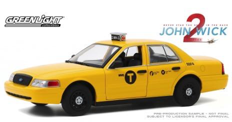 Diecast DDA 1:24 John Wick 2 2008 Ford Crown Victoria Taxi (Movie)