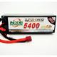 Battery LiPo NXE 14.8v 5400mah 60c H/case Lipo w/Dean