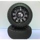 Wheels TORNADO RC Buggy 1/8 Tyre Set 1 Pair Pre Glued