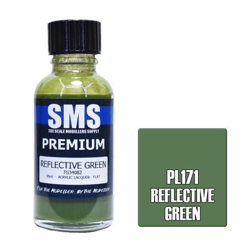 Paint SMS Premium Acrylic Lacquer PREMIUM REFLECTIVE GREEN FS34082 30ml