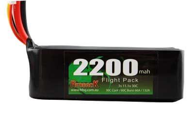 Battery LiPo Redback Lipo Battery, 11.1v LIPO, 2200MAH Flight 30c (Green)