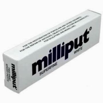 Plastic Kits MILLIPUT Superfine White 2 Part Putty