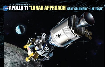 "Plastic Kits DRAGON (i) 1/72 Scale -  Apollo 11 ""Lunar Approach"" Csm ""Columbia"" + LM ""Eagle"" Plastic Model Kit"