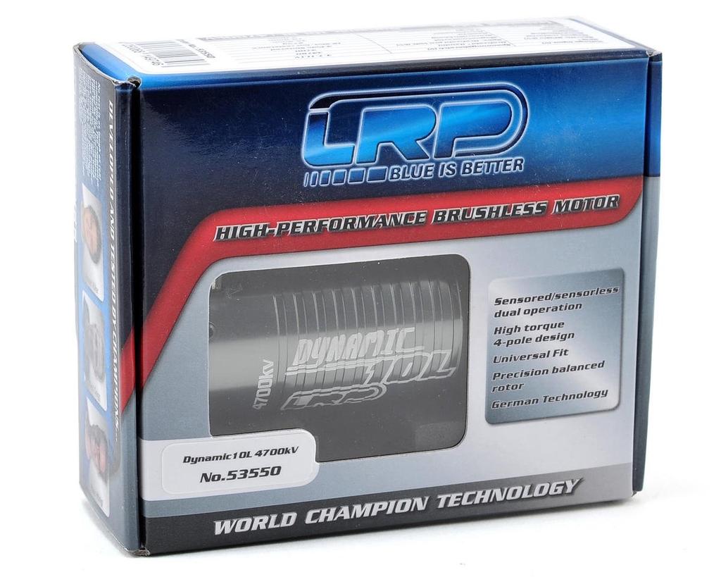 Motor Brushless LRP Dynamic 10L 550 4-Pole Brushless Motor 4700kv