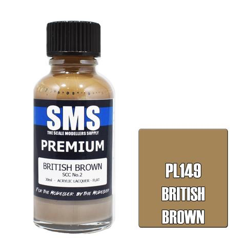 Paint SMS Premium Acrylic Lacquer BRITISH BROWN SCC NO.2 30ml