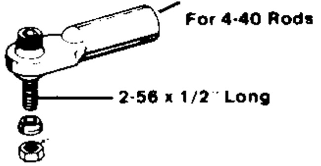 General Dubro 2-56 Swivel Ball Link/4-40 Rod (1 Pc/pac)
