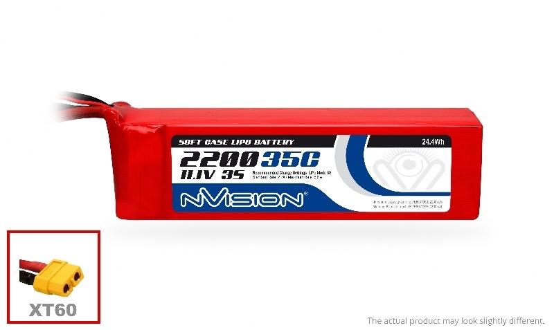 Battery LiPo Nvision Lipo Battery 2200mAh 3S 11.1V 35C (XT60 plug)