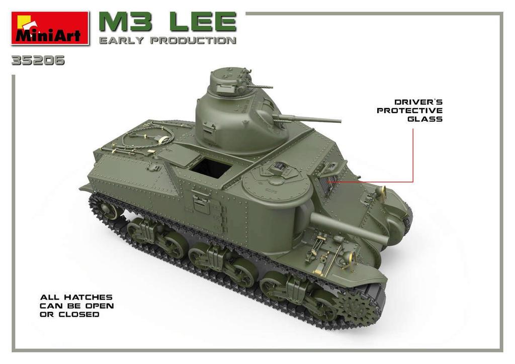 Plastic Kits Miniart 1/35 M3 Lee Early Prod. Interior Kit Plastic Model Kit