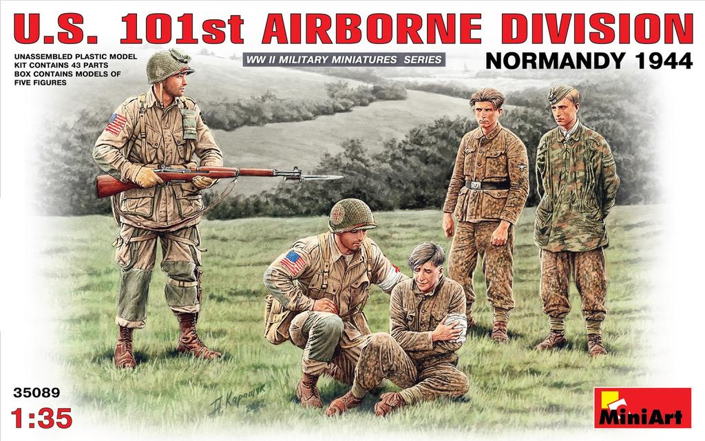 Plastic Kits Miniart 1/35 U.S. 101st Airborne Division (Normandy 1944) Plastic Model Kit