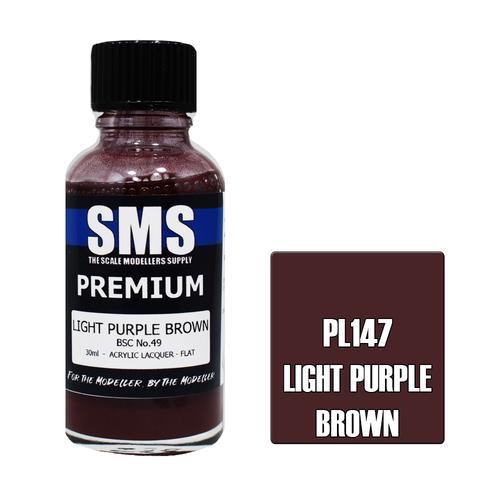 Paint SMS Premium Acrylic Lacquer LIGHT PURPLE BROWN BSC NO.49 30ml