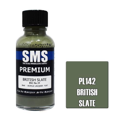 Paint SMS Premium Acrylic Lacquer BRITISH SLATE 30ml