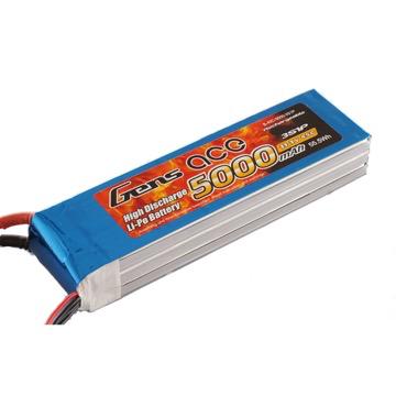 Battery LiPo GENS ACE 5000Mah 45C 11.1V Soft Case Battery (Deans Plug)
