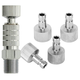 """General Airbrush Quick Disconnect Coupler Release Fitting Adapter w/5 Male Fitting, 1/8"""" M-F"""