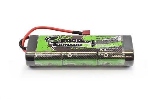 Battery NiMh TORNADO RC 5000Mah 7.2V Nimh Stickpack Deans Connector