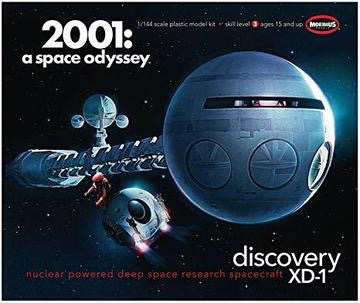 Plastic Kits MOEBIUS (f) 1/144 Scale -  2001 Discovery Plastic Model Kit