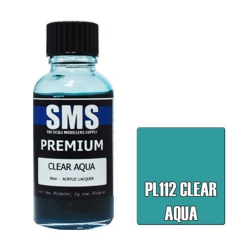 Paint SMS Premium Acrylic Lacquer CLEAR AQUA 30ml