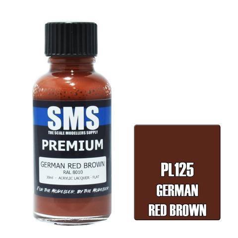 Paint SMS Premium Acrylic Lacquer GERMAN RED BROWN RAL8010 30ml