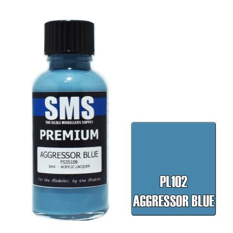 Paint SMS Premium Acrylic Lacquer AGGRESSOR BLUE FS35109 30ml