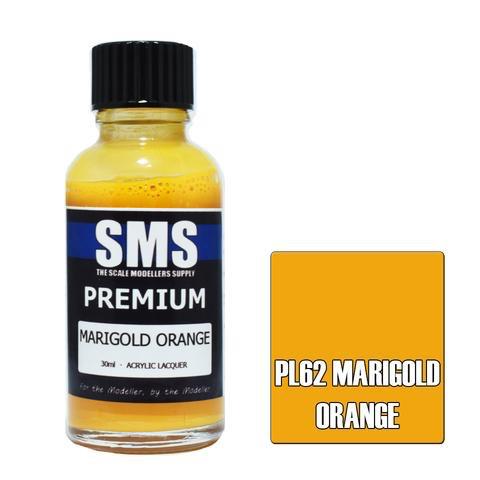 Paint SMS Premium Acrylic Lacquer MARIGOLD ORANGE 30ml