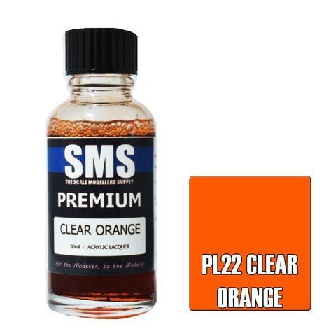 Paint SMS Premium Acrylic Lacquer CLEAR ORANGE 30ml