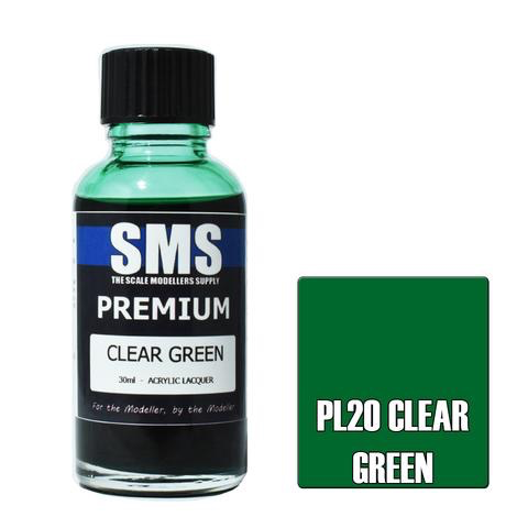 Paint SMS Premium Acrylic Lacquer CLEAR GREEN 30ml