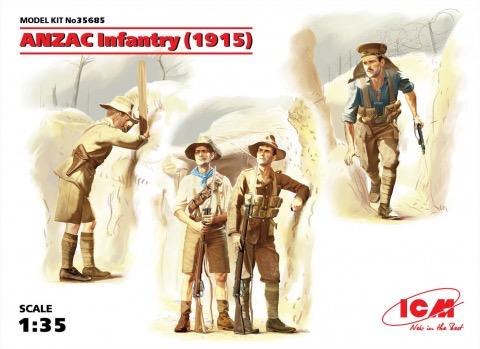 Plastic Kits ICM (e) 1:35 Scale Anzac Infantry (1915) (4)
