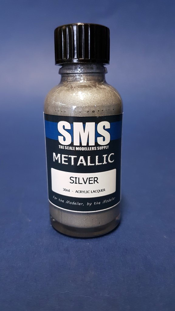 Paint SMS Metal Acrylic Lacquer SILVER 30ml