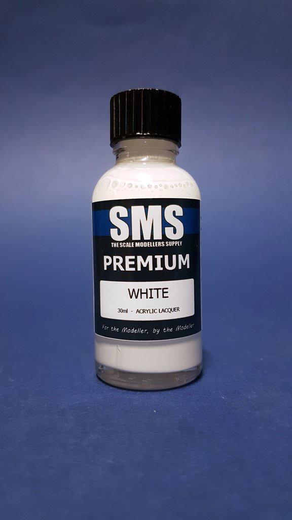 Paint SMS Premium Acrylic Lacquer WHITE 30ml