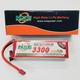 Battery LiPo NXE 14.8v 3300mah 40c Soft Case w/Deans