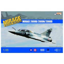 Plastic Kits KINETIC (n) 1/48 Mirage 2000 B/D/N
