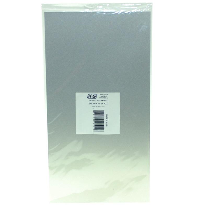 "General K&S .013 Tin (6"" X 12"") (1 Sheet/Package)"