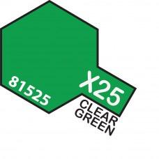 Paint Tamiya Color Mini Acrilic Paint X-25 Clear Green. (Gloss)