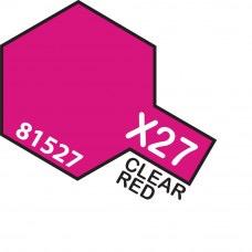 Paint Tamiya Color Mini Acrilic Paint X-27 Clear Red. (Gloss)